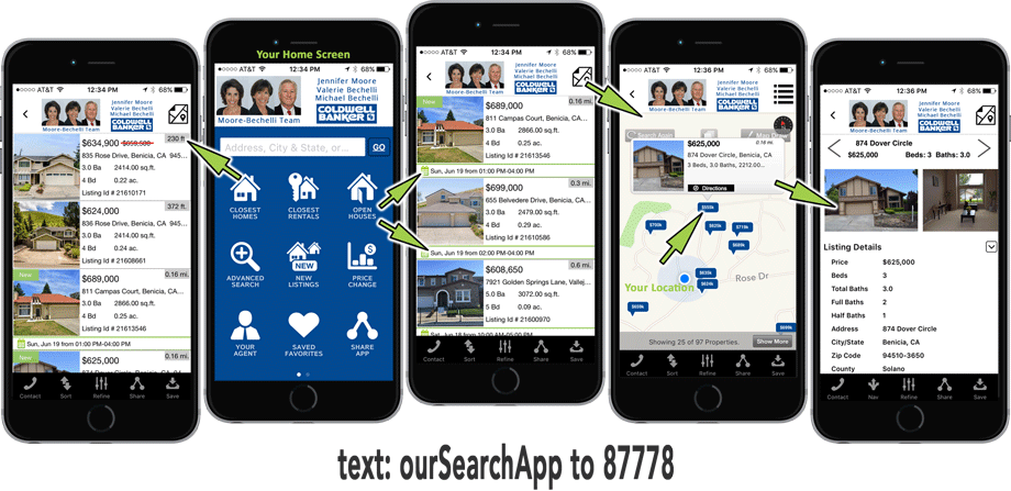 Buying a home or real estate in Benicia? Use our Search App